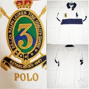 Polo Ralph Lauren White Rugby Polo Shirt Big Pony